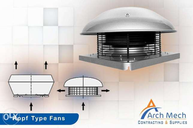 Roof fans Types and design features