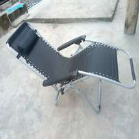Reclining Foldable Chair - Black