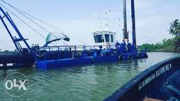 Suction dredger and cutter for sale