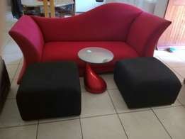 ONQ Designer couche and designer coffe table.