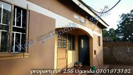 Self contained 2 bedroom house for rent in seeta at 250k