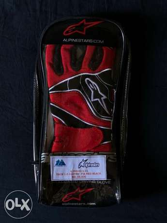 FIA approved racing gloves