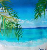 Beautiful beach painting