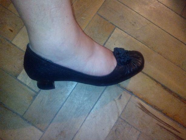 Туфли Lanzoniab черные 37 размера на низком каблуке Одесса - изображение 4