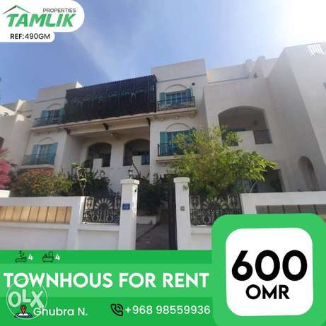Spacious Townhouse for Rent in Ghobra | REF 490GM
