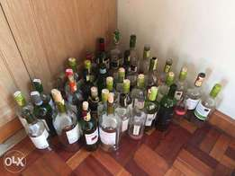 150 Free Glass Bottles -Great for candle holders or wall decorations