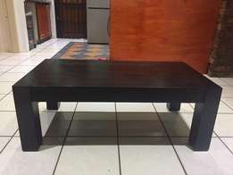 Solid dark wood coffee table for sale