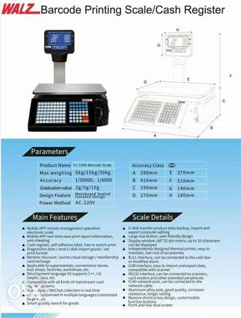 Barcod lable printing scale