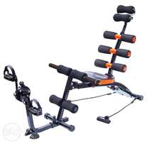 Six Pack AB Machine, Gym Equipment with Foam AB Trainer Fitness Spring