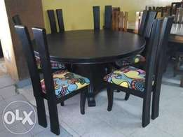 Dinning chair with six chairs