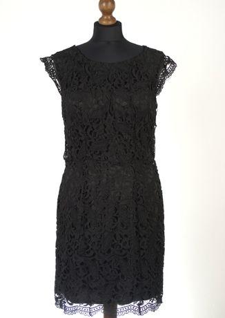 c1b99c31d3 Sukienka czarna koronkowa koronka klasyczna dopasowana taliowana 36 40  Sanok - image 1