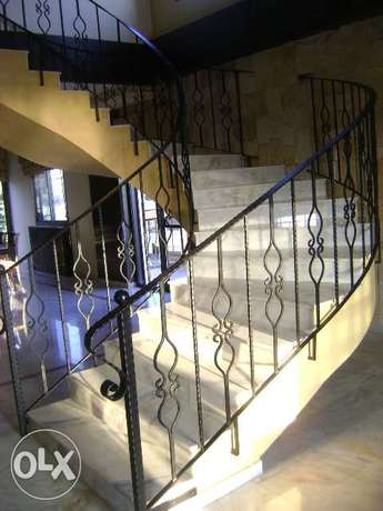 Manufacture of handrails and fences of all types