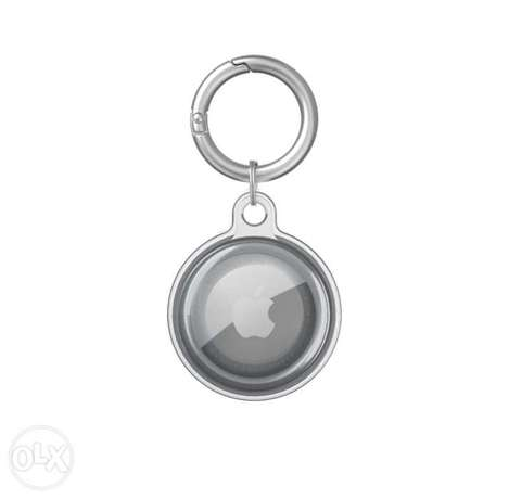 Apple Airtag Keychain (Black and Clear Transparent)