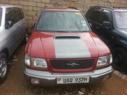 Subaru forester red legacy
