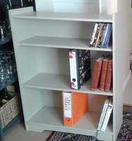 Bookshelf 3tier New in supawood painted beachwood colour