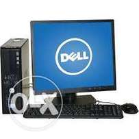 full set cpu duol core 3.0 ghz/1 gb ram ,80 gb hd dell ready to use at