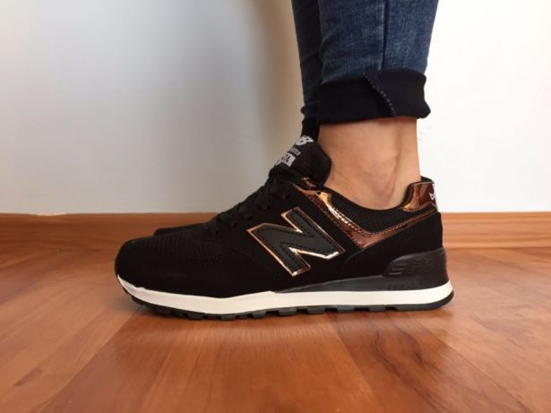 sklep cienie ekskluzywne buty Czarne New balance 574. Rozmiar 36. DAMSKIE. NOWOŚĆ. HIT ...