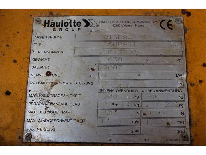 Haulotte COMPACT 12 - 2007 - image 6