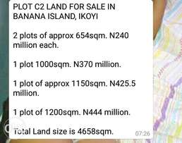 Lands in Banana Island Ikoyi now selling for 240M per plot