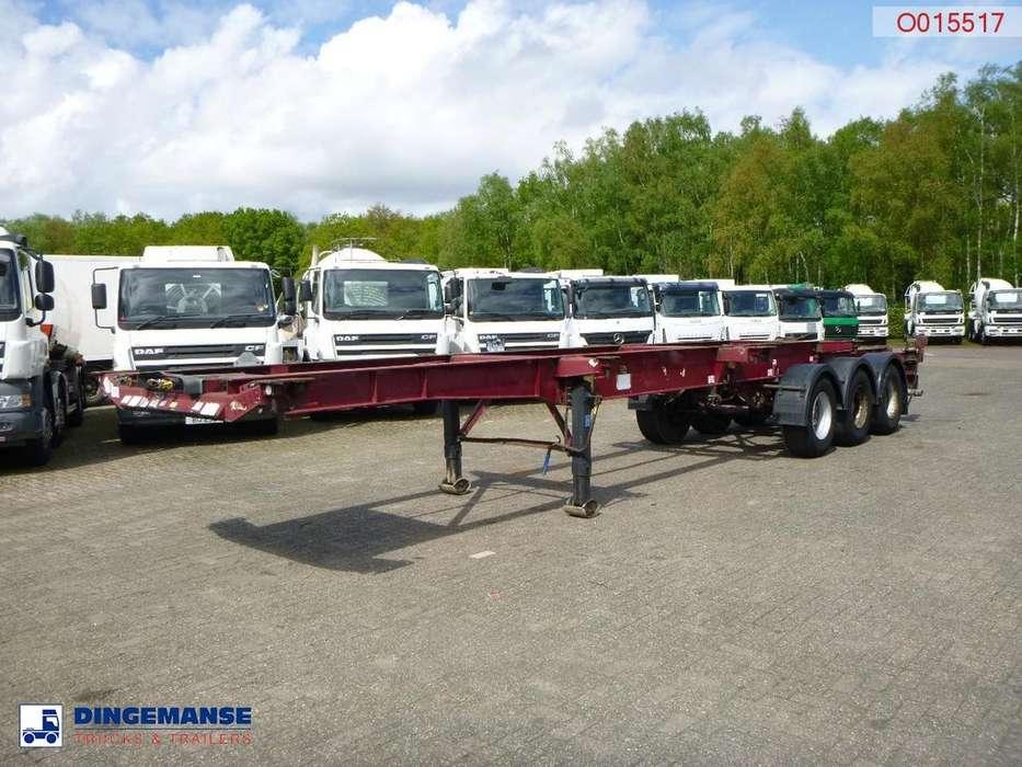 Dennison 3-axle sliding container trailer 45 ft - 2005