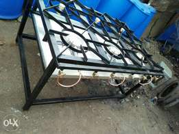Gas cooker six barner