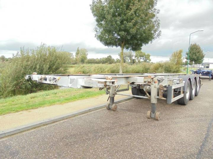 Burg 3-axle Tankcontainerchassis / 20-30 Ft / Nl / Adr / Bpw - 1999