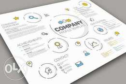 Company profile, business plan and logo