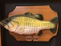 BIG MOUTH BILLY BASS - Mounted Singing & Moving Bass