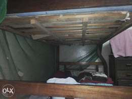 Double decker bed without mattress