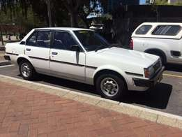 A rare find in this good condition TOYOTA COROLLA SLANT FRONT