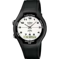 Casio ® Watch ( black--- spherical glass)