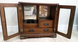 Jewelry Armoire oak miniature