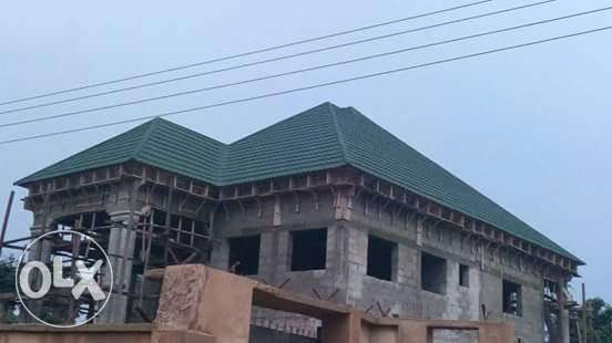 Long lifetime stone coated roofing sheet from golden ever company Eti Osa West - image 3