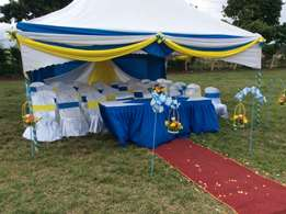 Glorious occasions, tents chairs,tables cutleries,stages for hire