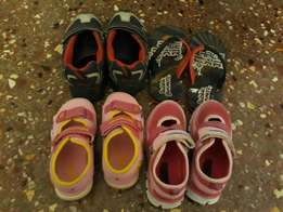 Assorted bubble gummers shoes and sandals for sale