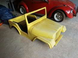 Mini Jeep fiberglass body