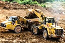 dump truck training Mining machinery forklift mobile crane excavator