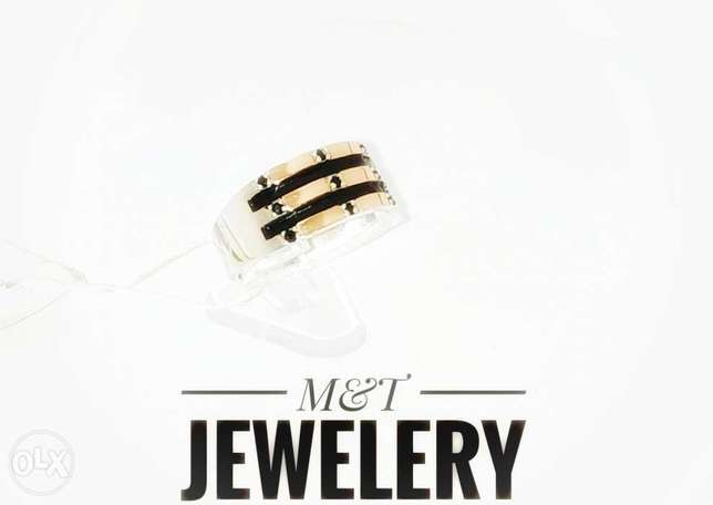 Brand Ring, Silver925 with Gold375