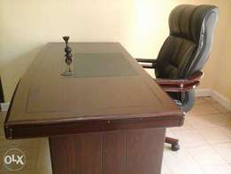 Executive office table & chair