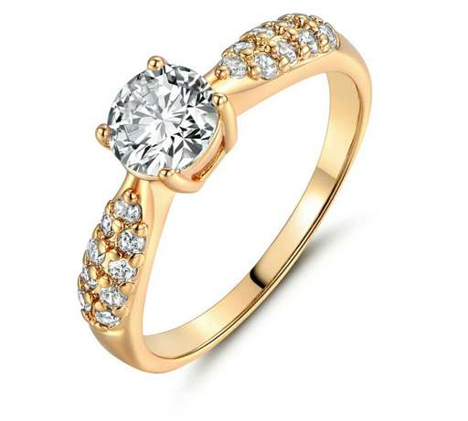 Gold plated engagement ring Owerri Municipal - image 1