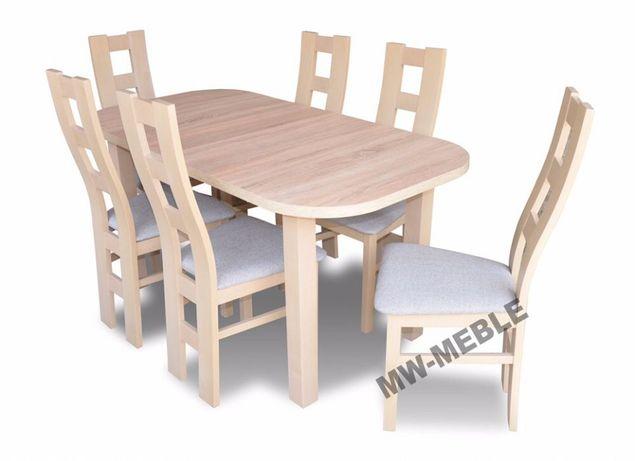 Zestaw Stół Owal 6 Krzeseł Dąb Sonoma Producent Dostawa