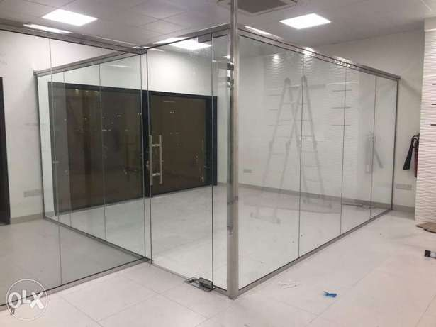 Office Glass partitions and office decore works