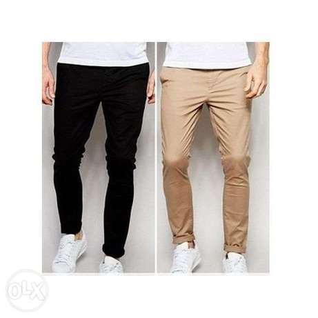 2n1 Men's pencil chinos trousers-black and brown Lagos Mainland - image 1
