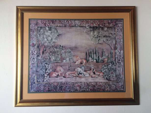 116 by 95 Tapestry framed (lithograph) pictures Alberante - image 2