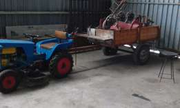 Tractor with attachments