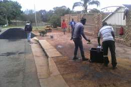 Tarring and paving industrial and residential