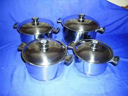 8 Piece 18/10 Stainless Steel Cookware Set - BRAND NEW