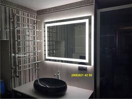 Влагостойкое зеркало с LED подсветкой 60х70см в ванную комнату 2cd1a66e38b