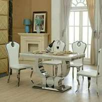 Marble dining table for 6setter executive