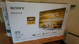 "Sony Bravia 49"" 4K Android HDR TV xd83"
